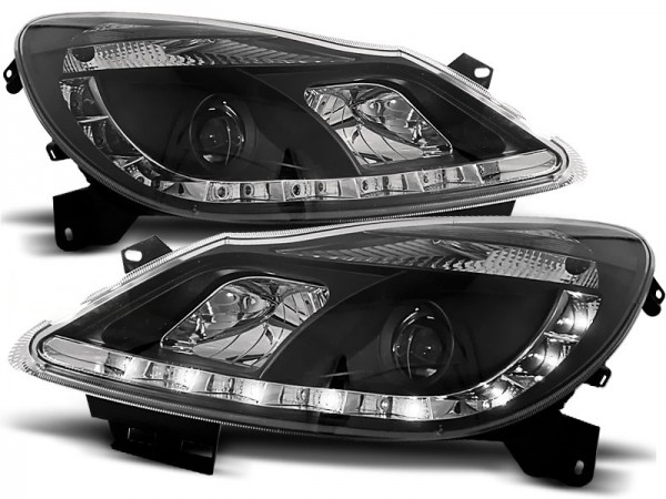 Headlights Opel Corsa D 06- Devil Eyes Dlite LED Black