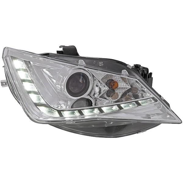 Headlights Seat Ibiza 12-15 LED clear