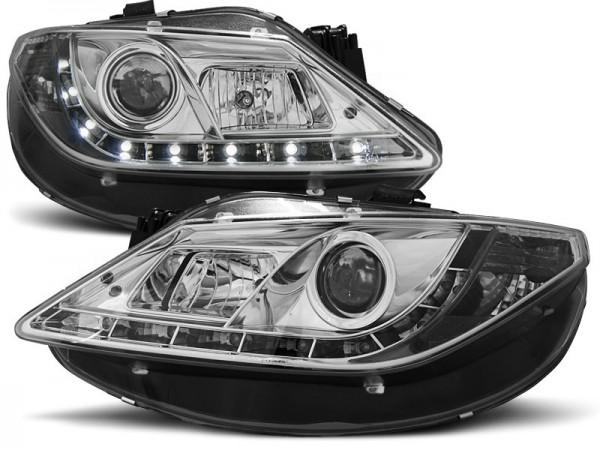 Headlights Seat Ibiza 6J 08-.. LED Devil Eyes Dayline chrome