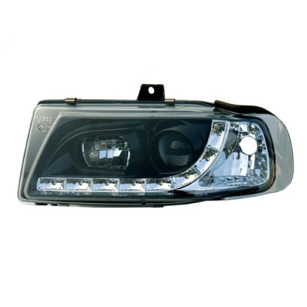 Headlights Seat Ibiza 6K LED Devil Eyes Dayline black