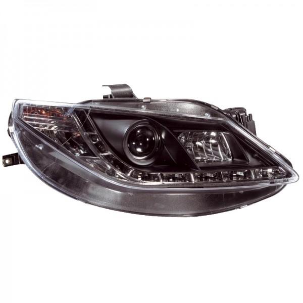 Headlights Seat Ibiza 6J 3/5drs 6/08 Devel eyes Dayline Black