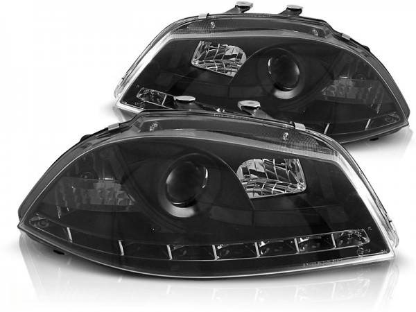 Headlights Seat Ibiza 6L/Cordoba 03-08 Devil Eyes Dlite LED Blac