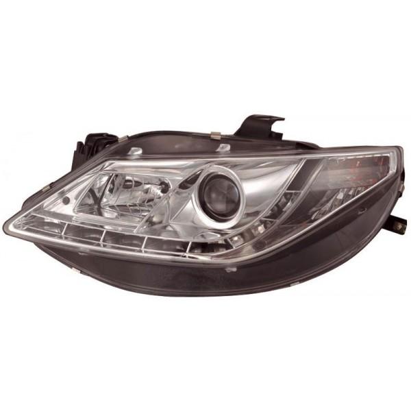 Headlights Seat Ibiza 6J 3/5drs 6/08 Devel eyes Dayline chrome