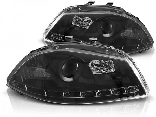 Headlights Seat Ibiza 03-.. LED Devil Eyes Dayline black